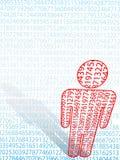 Símbolo do homem da matemática de dados numéricos aritméticos ilustração stock