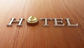 Símbolo do hotel Fotografia de Stock Royalty Free