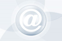 Símbolo do Internet do email ilustração royalty free
