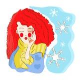 Símbolo do inverno da mulher Imagens de Stock Royalty Free