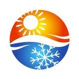 Símbolo do logotipo do condicionamento de ar ilustração royalty free