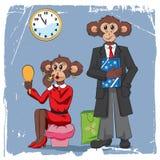 Símbolo do macaco do ano novo 2016 Imagens de Stock