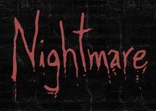 Símbolo do medo do pesadelo ilustração royalty free
