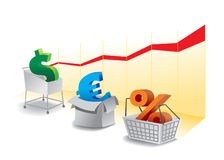 Símbolo do mercado Fotografia de Stock Royalty Free
