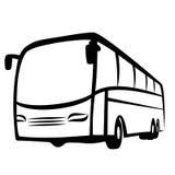 Símbolo do ônibus ilustração do vetor