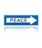 Símbolo do one-way da paz Foto de Stock