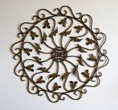 Símbolo do ornamental do metal Fotografia de Stock