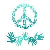 Símbolo do pacifismo e da paz Fotografia de Stock Royalty Free