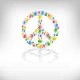 Símbolo do pacifismo e da paz Fotos de Stock