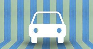 Símbolo do parque de estacionamento na parede pastel azul Fotografia de Stock