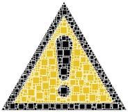 Símbolo do perigo Imagens de Stock Royalty Free
