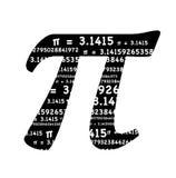 símbolo do pi Foto de Stock Royalty Free