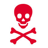 Símbolo do pirata Fotos de Stock Royalty Free