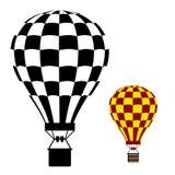 Símbolo do preto do balão de ar quente Imagens de Stock