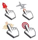 Símbolo do projeto do cursor da mão Imagens de Stock Royalty Free