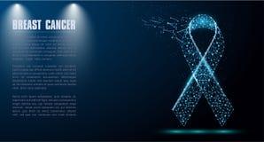 Símbolo do RGB do mês da conscientização do câncer da mama em outubro ilustração do vetor