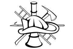 Símbolo do sapador-bombeiro Foto de Stock Royalty Free