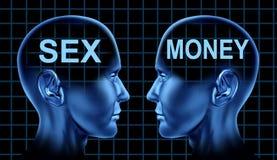 Símbolo do sexo e do dinheiro Imagens de Stock