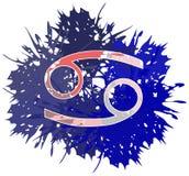 Símbolo do sinal do câncer feito com os pontos isolados ilustração royalty free