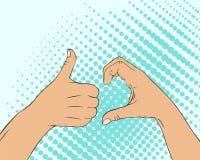 Símbolo do sinal de Friendzone no estilo da arte do poo Imagens de Stock