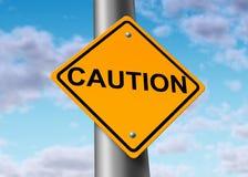 Símbolo do sinal de rua da estrada do perigo do cuidado ilustração do vetor