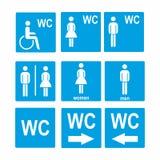 Símbolo do sinal do ícone do toalete do WC Foto de Stock