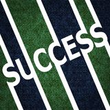 Símbolo do sinal do sucesso Imagens de Stock