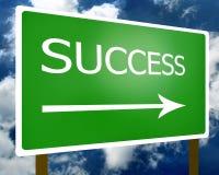 Símbolo do sinal do sucesso Fotos de Stock Royalty Free