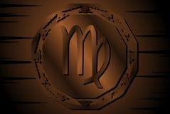 Símbolo do sinal virgem no fundo ilustração royalty free