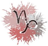 Símbolo do sinal do zodíaco do capricorn feito com pontos ilustração royalty free