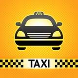 Símbolo do táxi de táxi no fundo Fotos de Stock