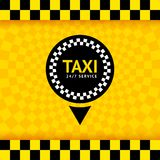 Símbolo do táxi, fundo novo Fotografia de Stock Royalty Free