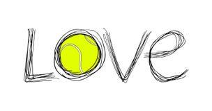 Símbolo do tênis do amor Imagem de Stock Royalty Free