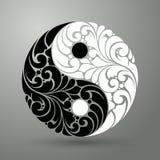 Símbolo do teste padrão de Yin yang Imagem de Stock