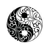 Símbolo do teste padrão de Yin yang Foto de Stock