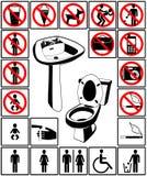Símbolo do toalete Fotos de Stock Royalty Free