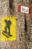 Símbolo do trajeto do tronco de madeira Imagem de Stock
