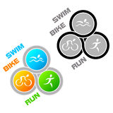 Símbolo do Triathlon Foto de Stock Royalty Free