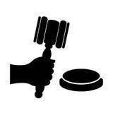 Símbolo do vetor do leilão Fotos de Stock Royalty Free