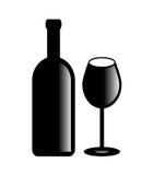 Símbolo do vinho do vetor Imagens de Stock