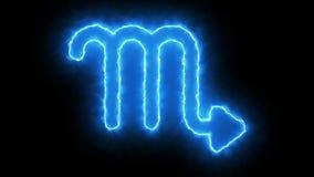 símbolo do zodíaco da rendição 3d Fundo abstrato colorido ilustração stock