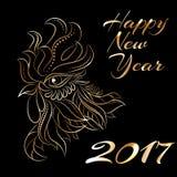Símbolo do zodíaco do galo de 2017 anos Fotos de Stock Royalty Free