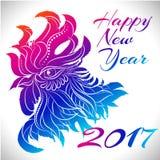 Símbolo do zodíaco do galo de 2017 anos Imagem de Stock