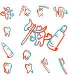 Símbolo dos ícones dos dentes Imagem de Stock Royalty Free