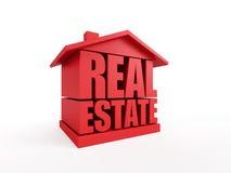 Símbolo dos bens imobiliários Imagem de Stock