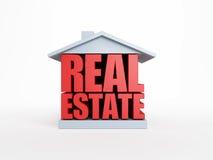 Símbolo dos bens imobiliários Fotografia de Stock Royalty Free
