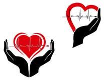 Símbolo dos cuidados médicos foto de stock