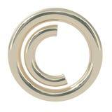 Símbolo dos direitos reservados isolado no branco Imagens de Stock Royalty Free