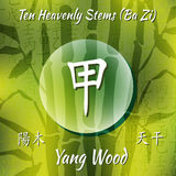 Símbolo dos hieróglifos chineses Fotos de Stock