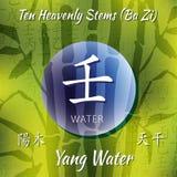 Símbolo dos hieróglifos chineses Fotos de Stock Royalty Free